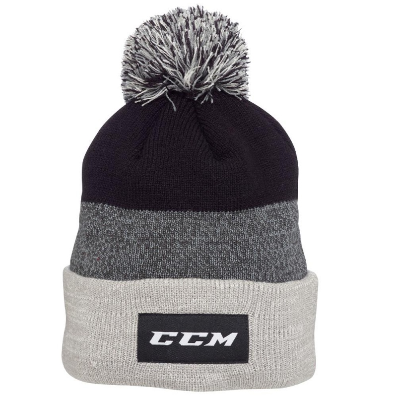 Шапка CCM TEAM CUFFED KNIT POM
